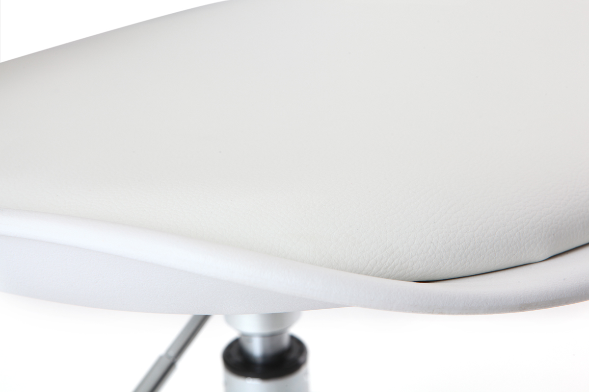 Chaise STEEVY design NEW Miliboo blanche roulettes à zGqUVMSp