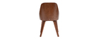 Chaise design bimatière noir et bois foncé FLUFFY
