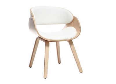 Fauteuil relax rocking chair ou fauteuil club miliboo for Chaise bois et blanc