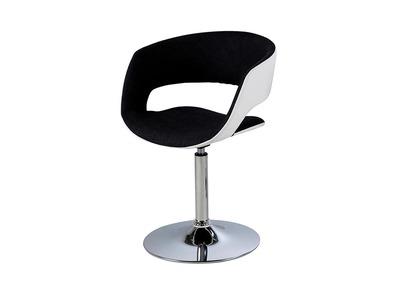 Chaise design blanche et gris anthracite simili cuir GRAVIT V2