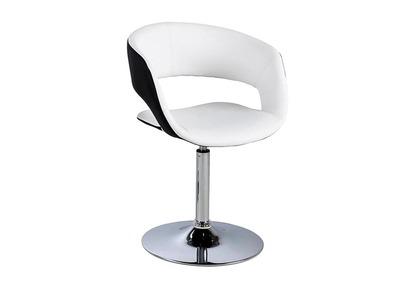 Chaise design blanche et noire simili cuir GRAVIT V2
