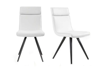 Chaise design blanche lot de 2 BETSY