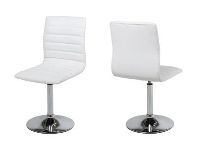 Chaise design blanche lot de 2 VEDETTE