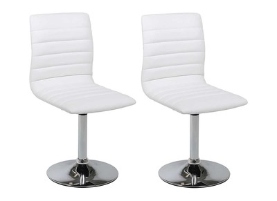 Chaise design blanche lot de 2 VEDETTE
