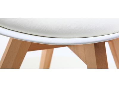 Chaise design blanche lot de 4 PAULINE