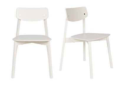 Chaise design bois blanc lot de 2 JESS