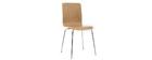 Chaise design bois clair (lot de 2) NELLY