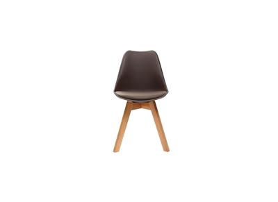 Chaise design chocolat lot de 4 PAULINE
