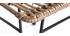 Chaise design en fils de résine façon rotin MAJA