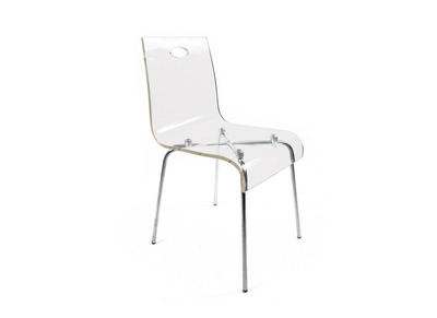 Chaise design en plexiglas transparent CINDY