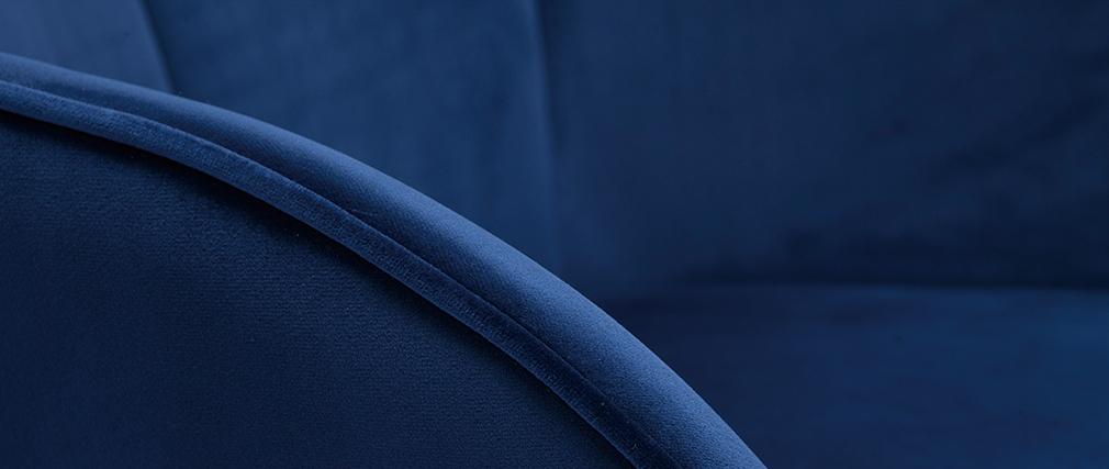 Chaise design en velours bleu foncé FRIDA