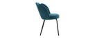 Chaise design en velours bleu pétrole FLOS