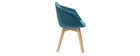 Chaise design en velours bleu pétrole TAYA