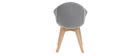 Chaise design en velours gris TAYA