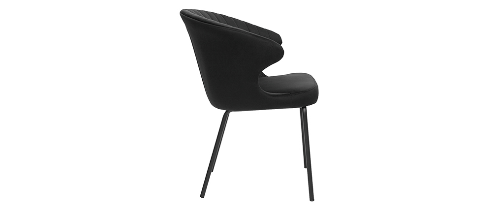 Chaise design en velours noir REQUIEM