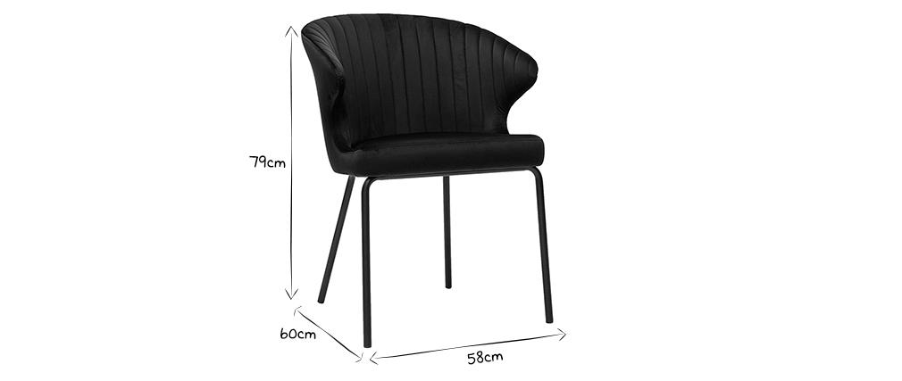 Chaise design en velours noir REQUIEM