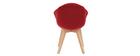 Chaise design en velours rouge TAYA