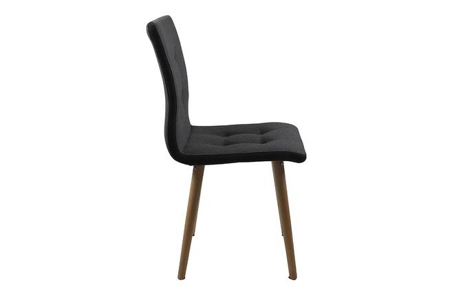 Chaise design gris anthracite et ch ne lot de 2 horta for Chaise longue gris anthracite