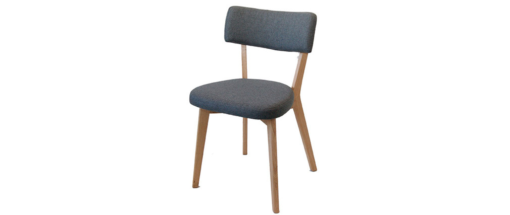 Chaise design gris anthracite et pieds en ch ne helsinski for Chaise longue gris anthracite