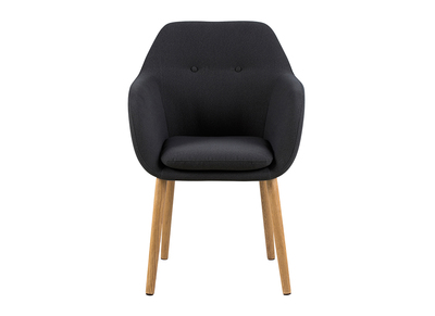Chaise design gris anthracite pieds bois MIRA
