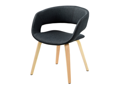 Chaise design gris anthracite pieds bois SAB
