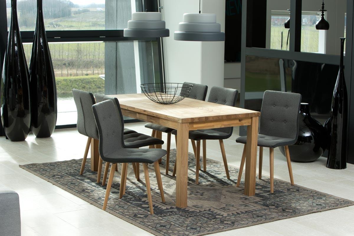 chaise design gris clair et ch ne lot de 2 horta miliboo. Black Bedroom Furniture Sets. Home Design Ideas