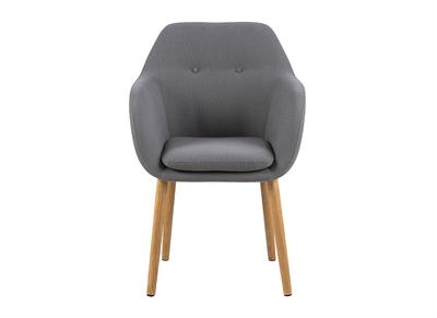 Chaise design gris clair pieds bois MIRA