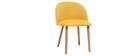 Chaise design jaune et bois CELESTE