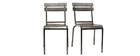 Chaise design métal (lot de 2) SHERMAN