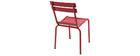 Chaise design métal rouge (lot de 2) SHERMAN