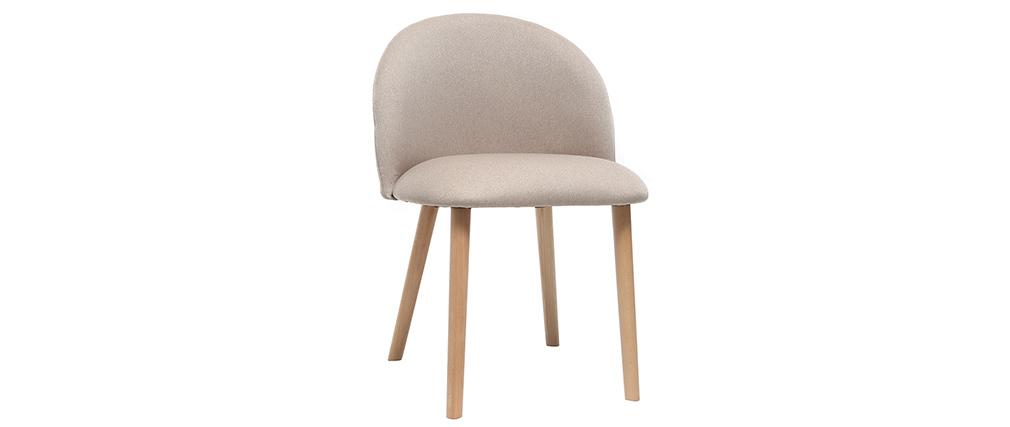 Chaise design naturelle et bois CELESTE
