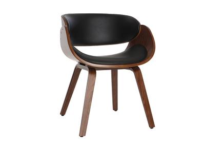 Chaise Design Salle A Manger.Chaise Design Noir Et Bois Fonce Noyer Bent