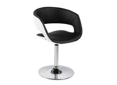 Chaise design noire et blanche simili cuir GRAVIT V2