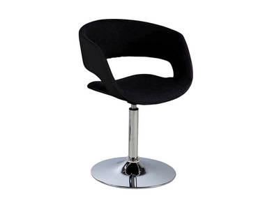 Chaise design noire et gris anthracite simili cuir GRAVIT V2