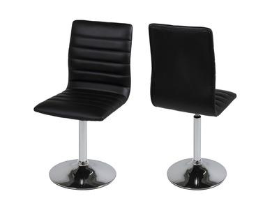 Chaise design noire lot de 2 VEDETTE
