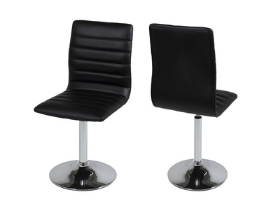 Chaise design noire lot de 2 VEDETTE