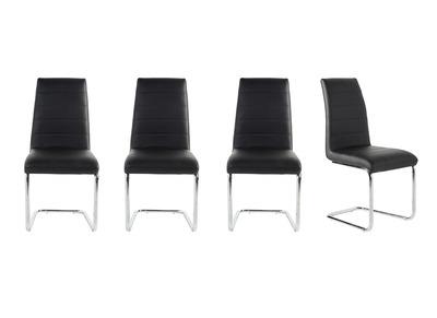 Chaise design noire lot de 4 LAURA