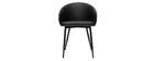 Chaise design noire PRECIO