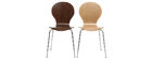 Chaise design noyer (lot de 2) NEW ABIGAIL