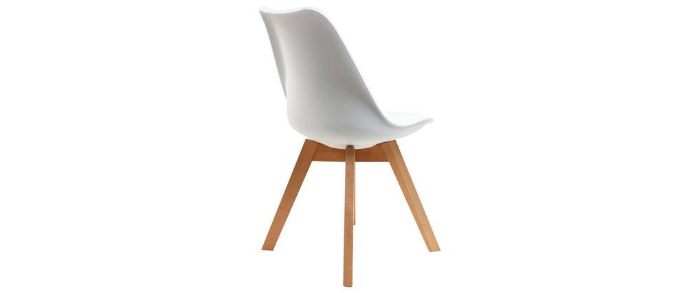 chaise design pi tement bois blanches lot de 2 pauline miliboo. Black Bedroom Furniture Sets. Home Design Ideas