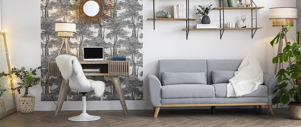 Chaise design pivotant blanc mat STEEVY V2