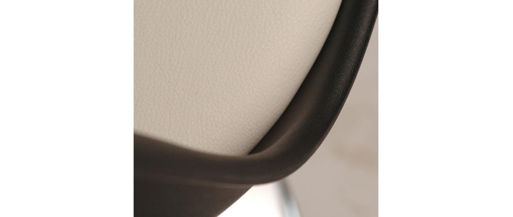 Chaise design pivotante noir et blanc steevy miliboo for Chaise pivotante