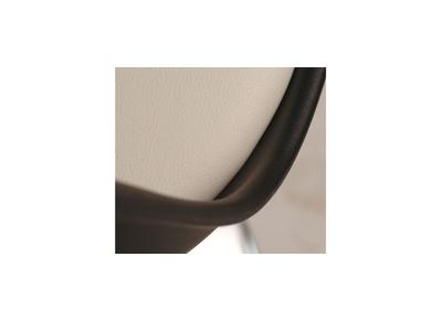 Chaise design pivotante noir et blanc STEEVY