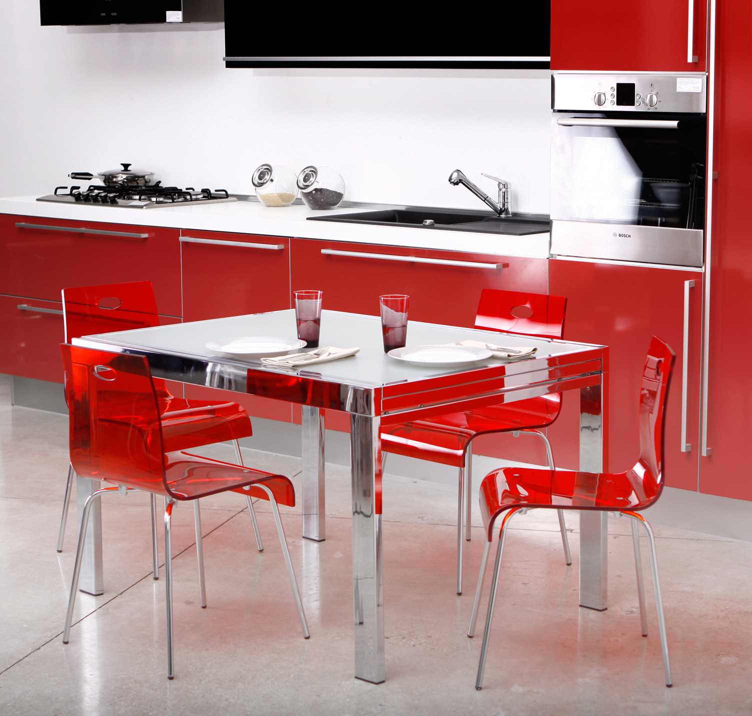 Chaise cuisine rouge - Chaise cuisine rouge ...