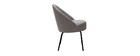 Chaise design tissu gris et métal noir IZAAC - Miliboo & Stéphane Plaza