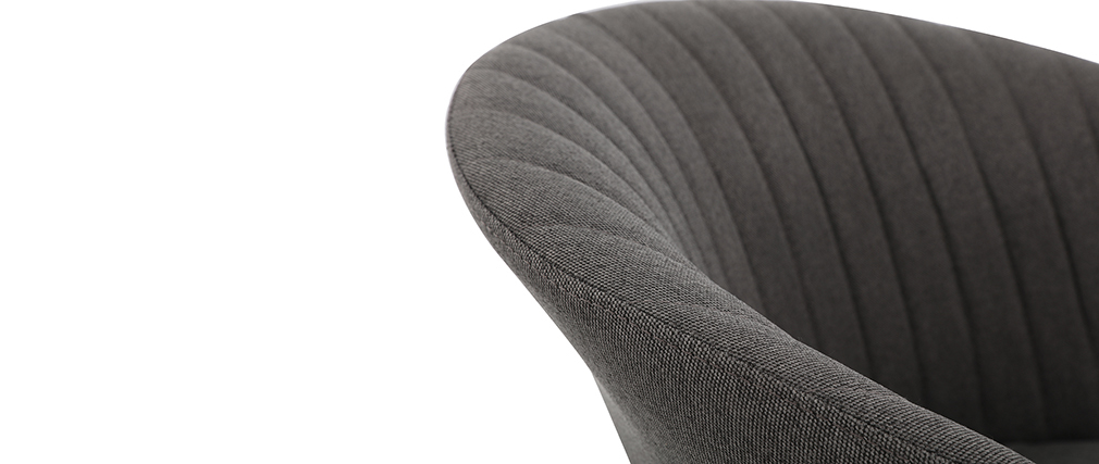 Chaise design tissu gris foncé pieds métal doré REQUIEM - Miliboo & Stéphane Plaza