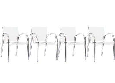 Chaise design transparent lot de 4 RONDA