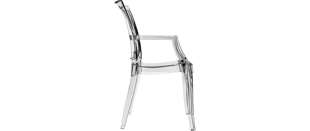 chaise design transparente lot de 4 quadro miliboo. Black Bedroom Furniture Sets. Home Design Ideas