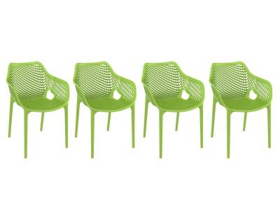 Chaise design vert lot de 4 LUCY XL