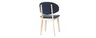 Chaise en tissu bleu foncé SOFFY
